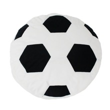 Soccer Ball Pillow Fluffy Stuffed Plush Throw Soft Durable Sports Toy Gift for Kids Room Decoration Summer Style