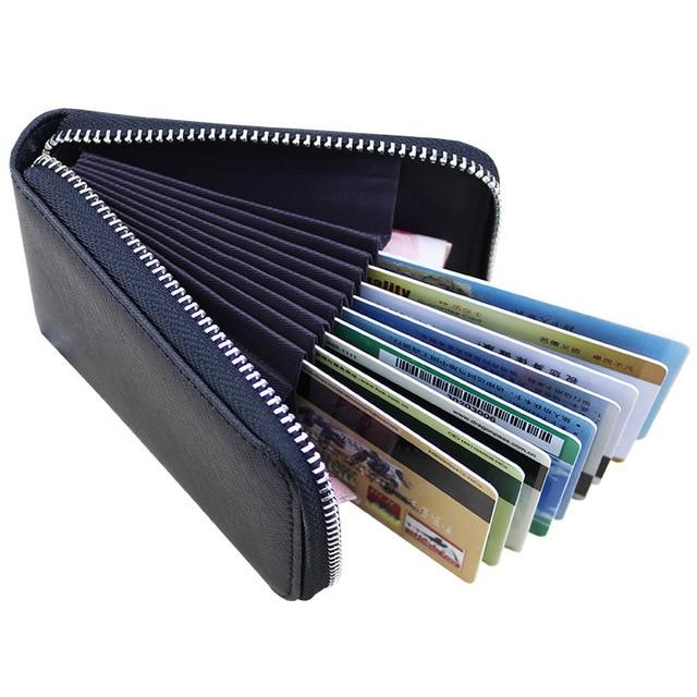 891af8693df6 Easy Bag Portable Exquisite Cards Storaging Organizer Excellent Leather  Storage Bag Smart Travel Bag Porta Moedas