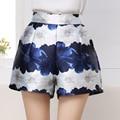 Moda caliente del verano mujeres Shorts Floral impreso Loose Shorts Feminino estilo chino de cintura alta pantalones cortos con cierre con cremallera M-XL