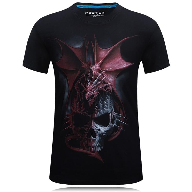 SWENEARO New Fashion Men/women 3d t-shirt print Dragon design summer Cotton tees shirt Polyester plus size t-shirt Gift for male