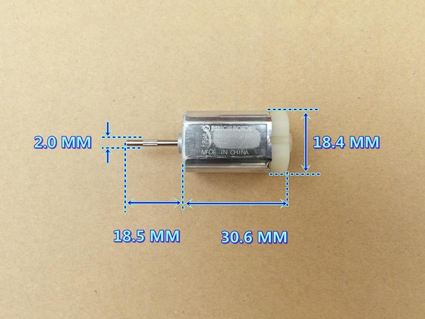 Шестиполюсный ротор с высоким крутящим моментом, микро мотор, складные зеркала для автомобиля, DC12V, 7200 об/мин, прецизионный квадратный двигатель постоянного тока с драгоценной металлической щеткой