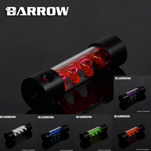 Barrow TLYK-205 Multi-colored Virus T Cylinder Water Reservoir , Water Cooling tank, come with UV/White lighting barrow t virus water cooling reservoir tank tlyk155 155mm with uv light