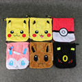 20*21cm 6Styles Pikachu Eevee Umbreon Sylveon Plush Storage Bag Foldable Drawstring Beam Port Household Daily Tools