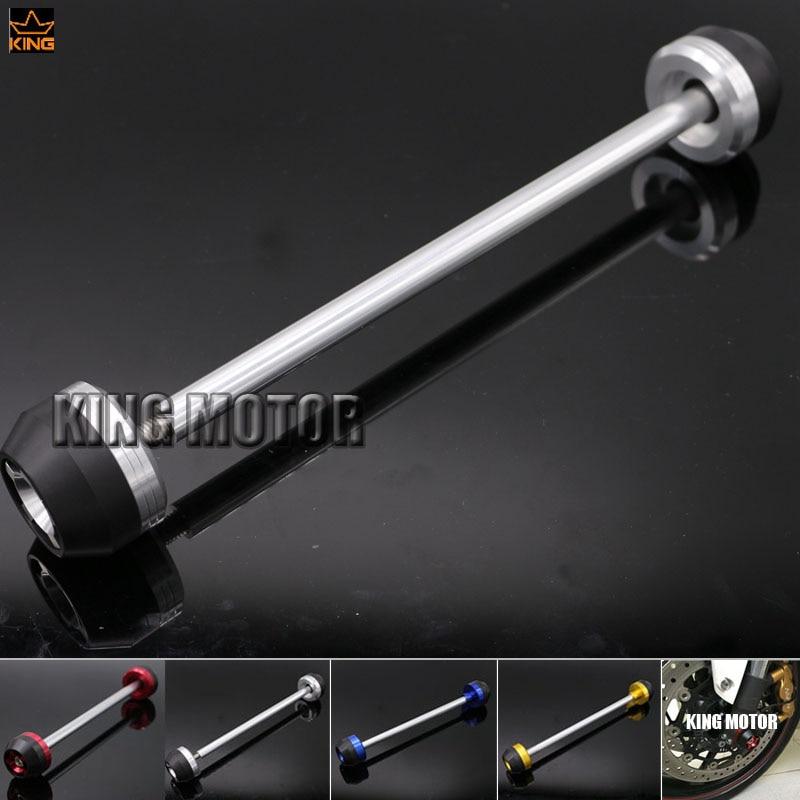For SUZUKI GSR750 GSR 750 2011-2014 Motorcycle Accessories CNC Aluminum Front Axle Fork Crash Sliders Wheel Protector Silver