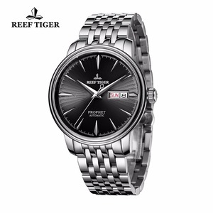 Image 2 - Reef Tiger/RT Dress Watches with Date Day Full Stainless Steel Watch Automatic Watches RGA8236