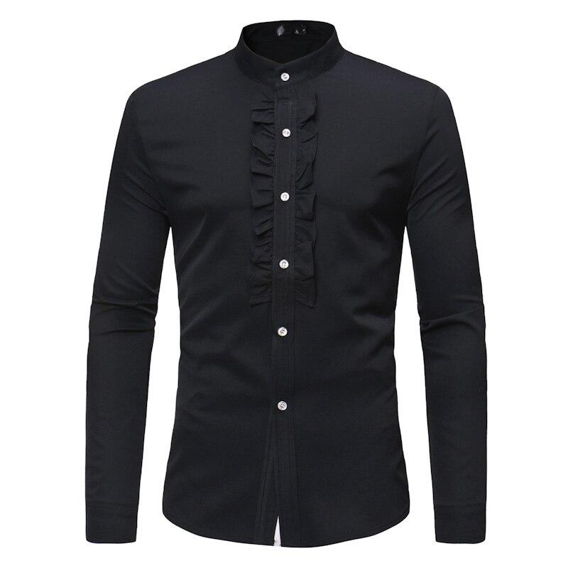 Noir Mandarin paillettes-shirt Veste
