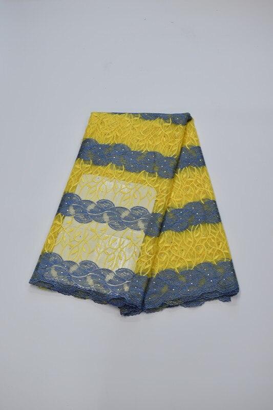 Tissu africain brodé de dentelle de maille tissu français de dentelle de filet 5yds/pc pour la robe de mariée 16. A20 - 2