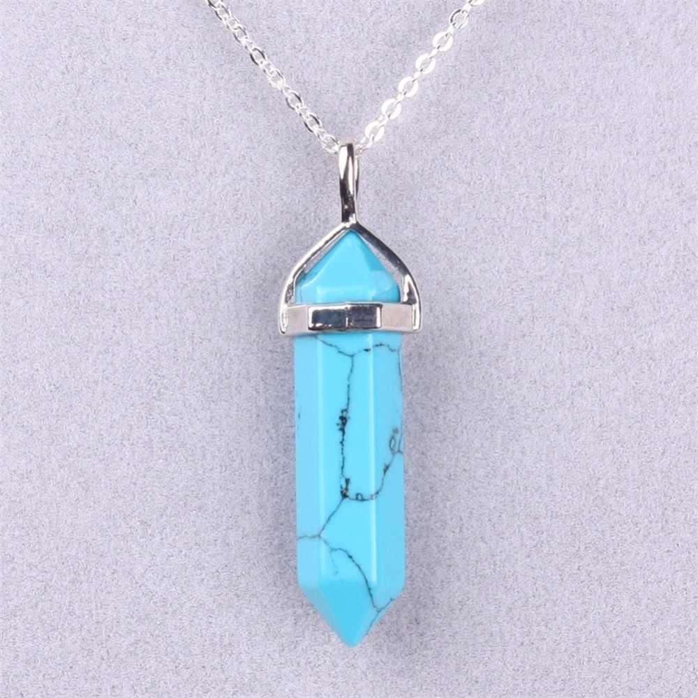 Druzy Trendy moda biżuteria naszyjnik z kamienia naturalnego onyks zielony awenturyn rock GoldenSandStone balmatin opal piękne nicekolye