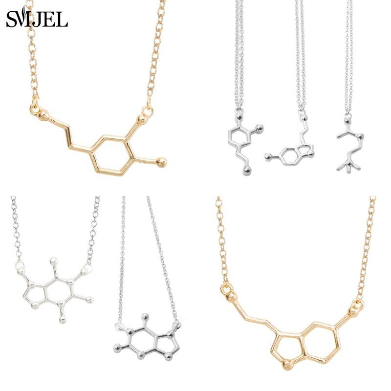 Smjel dopamine molécula colares fórmula química colar moda feminina serotonina estrutura fórmula pingente graduação presentes