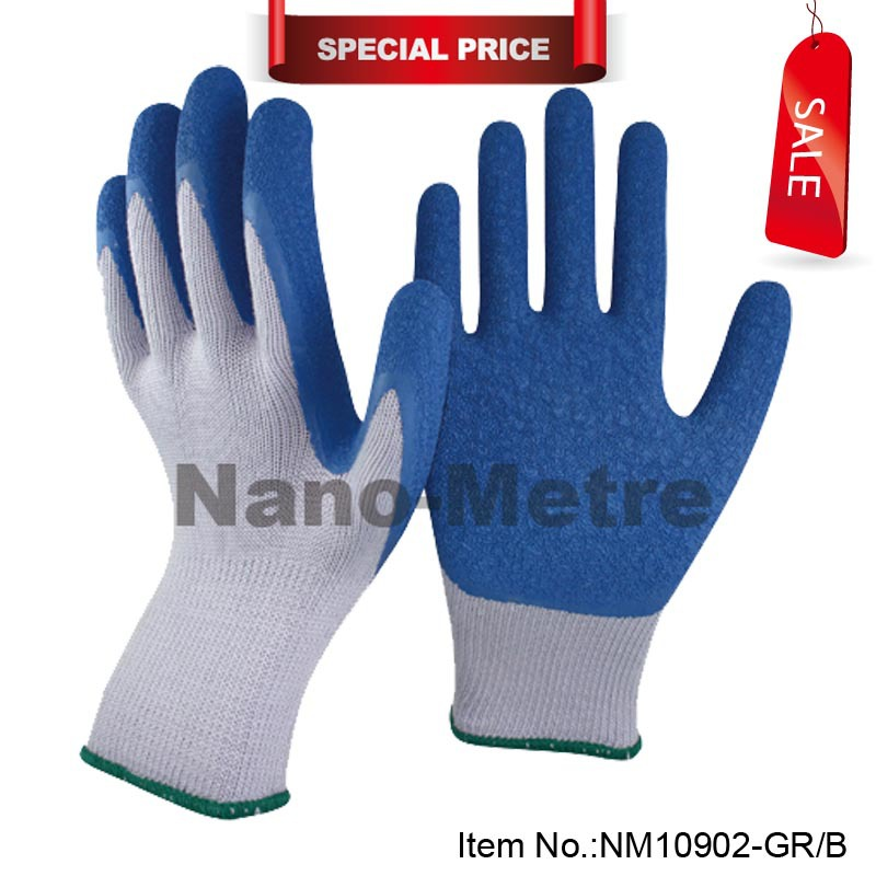 Nmsafety Fashion High Quality Work Safety Gloves/Protective Gloves/Rubber Good Grip Work ...