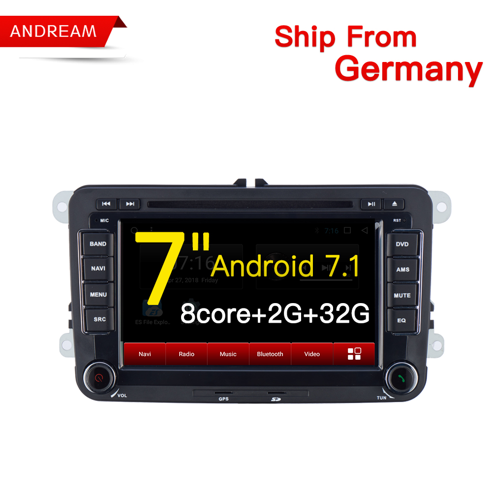 Android 7.1 2G RAM 32G ROM Car Multimedia player GPS Navigation Autoradio 2 Din polo golf passat tiguan yeti superb rapid isudar car multimedia player automotivo gps autoradio 2 din for skoda octavia fabia rapid yeti superb vw seat car dvd player