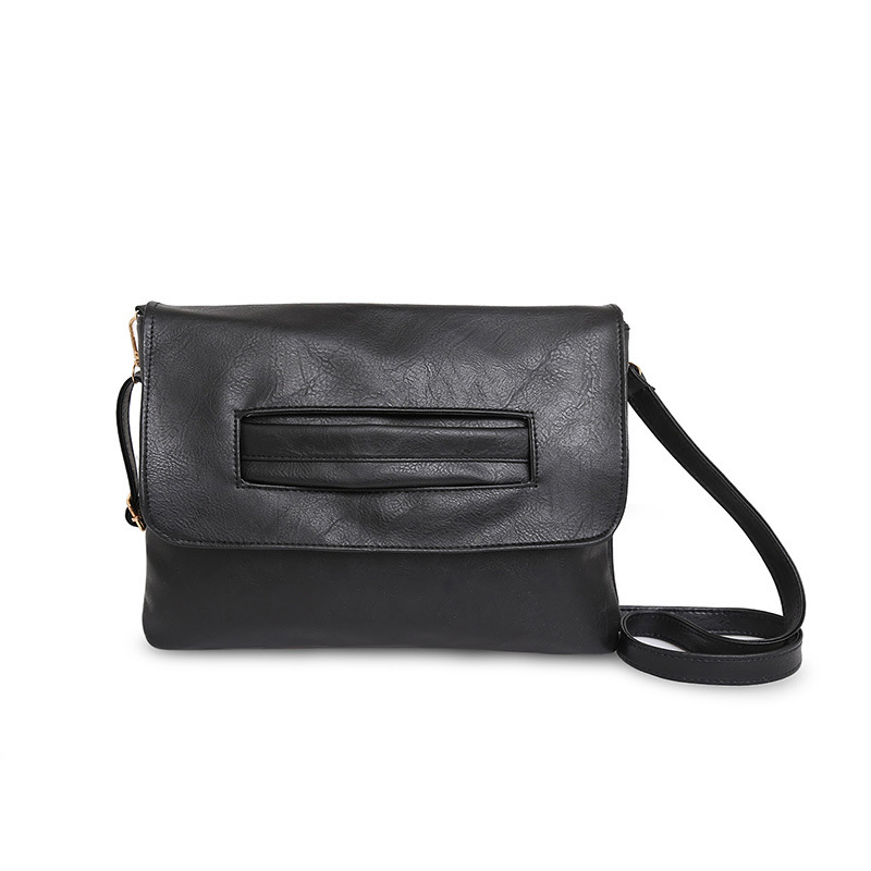 High-Quality Design Clutchbag Women Handbags Cover Solid Soft Envelope Versatile One Belt Middle Lady Popular Bag