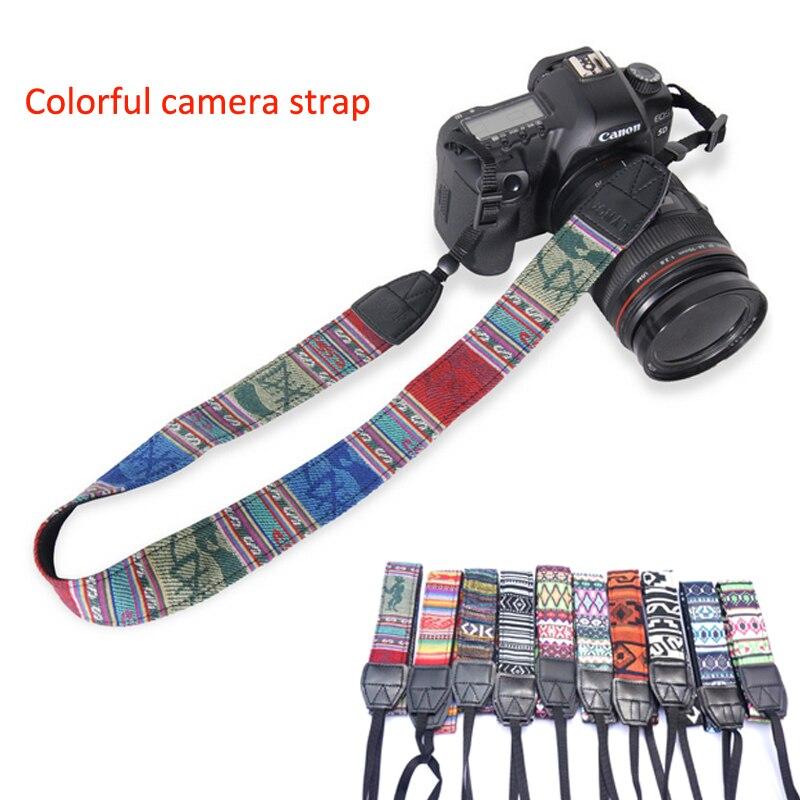 New Arrival Cotton Camera Strap Neck Shoulder Belt Durable Vintage Strape for DSLR Canon Nikon Sony Pentax Camera Accessories