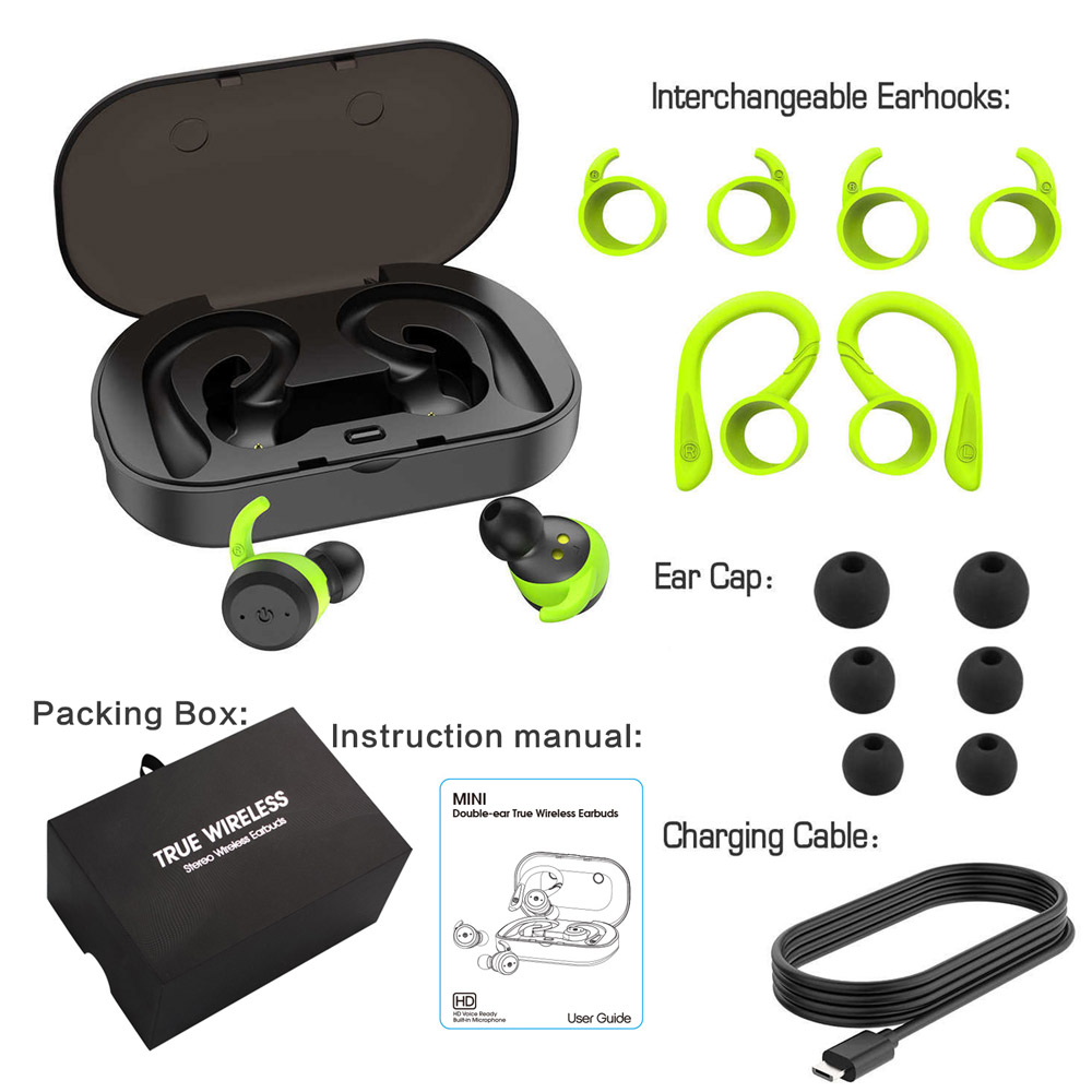Dual Bluetooth Headset with Ear-hook  2