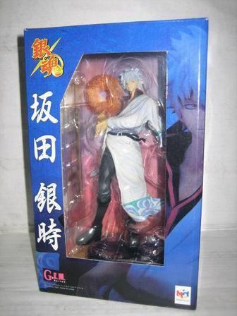 23cm Gin Tama Gintama Sakata Gintoki Silver Soul Action Figures PVC brinquedos Collection Figures toys for christmas gift