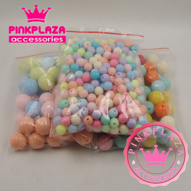 Jelly Style Plastic Beads Womens European Fashion, Round, Multicolor, 2 Holes,6mm Plastic Beads Nail Art