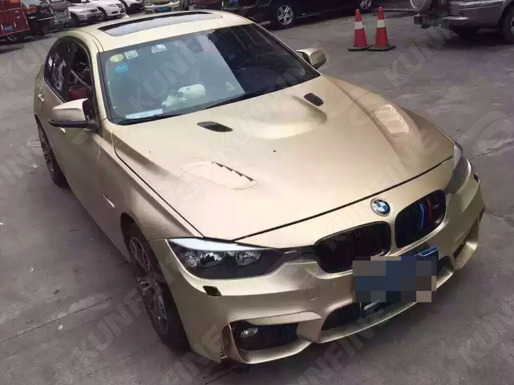 Car Styling Wrap Matt Ice Champagne Gold Car Vinyl film Body Sticker Car Wrap With Air Free Bubble For Vehiche 1.52*20 M/Roll 30cmx100cm car styling matt brushed car wrap vinyl film sheet bubble free air release motorcycle automobiles car stickers decal