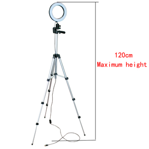 Image 3 - Dimmable LED Studio Camera Ring Light Photo Mobile Phone Video Annular Lamp Tripod Selfie Stick For Xiaomi iphone Canon Nikon