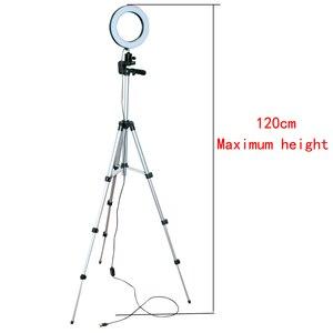 Image 3 - ניתן לעמעום LED סטודיו מצלמה טבעת אור צילום נייד טלפון וידאו טבעתי מנורת חצובה Selfie מקל לxiaomi iphone Canon ניקון