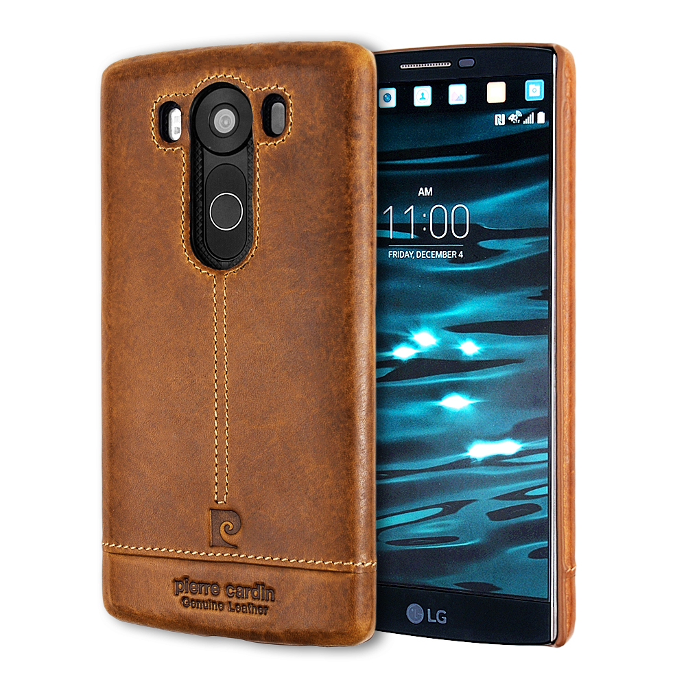 Pierre Cardin Luxury Back Case For LG V10 V20 Genuine Leather Cell Phone Cases Ultra Thin