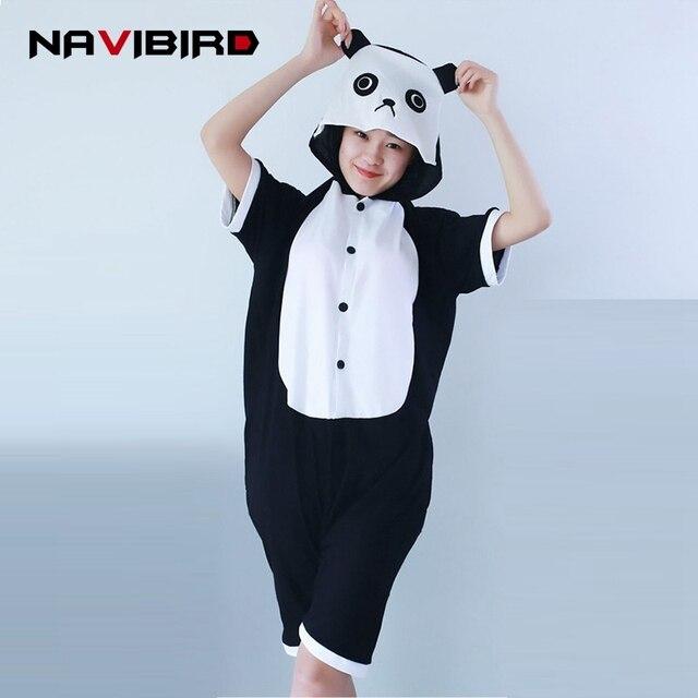 fa4a046d8 Adulto Algodão Curto Kungfu Panda Kigurumi Pijamas Para As Mulheres Verão  2018 Dinoraurjumpsuit Onesie Animais Pijama