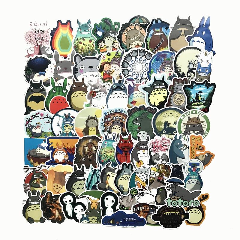 64Pcs Japanese 2020 Movie My Neighbor Totoro Cute Cartoon Stickers For Skateboard Laptop Luggage Fridge Phone Styling Sticker