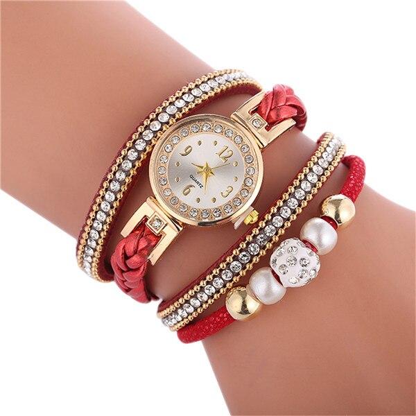 Relogio браслет часы для женщин обернуть вокруг модный браслет модное платье Дамские женские наручные часы relojes mujer часы для подарка - Цвет: Red