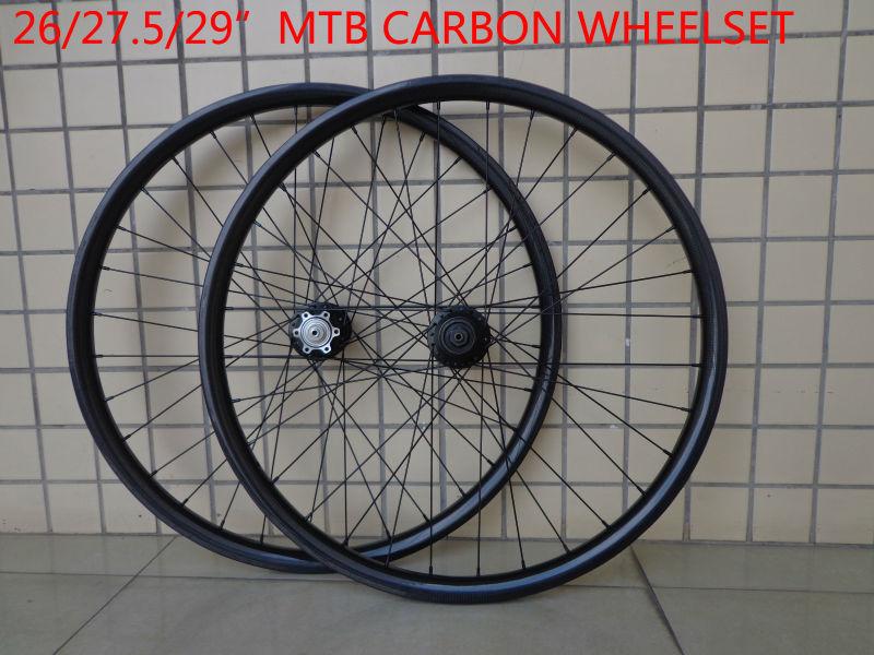 New 26 27 5 29er inch light clincher rim mountain bike 3K UD 12K full carbon