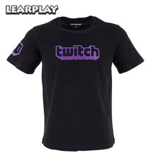 Twitch Logo Tee Parodi Cool New Streamer Casual Wear T-shirt Sommar Kortärmad Svart Toppar T-shirt S M L XL 2XL