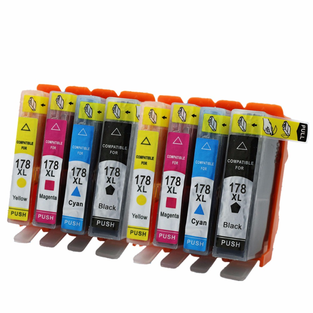 Ink Cartridges Replacement For <font><b>HP178XL</b></font> HP178 178XL 178 XL Photosmart Plus B209a B210c B210d B210e B210a Inkjet Printer image