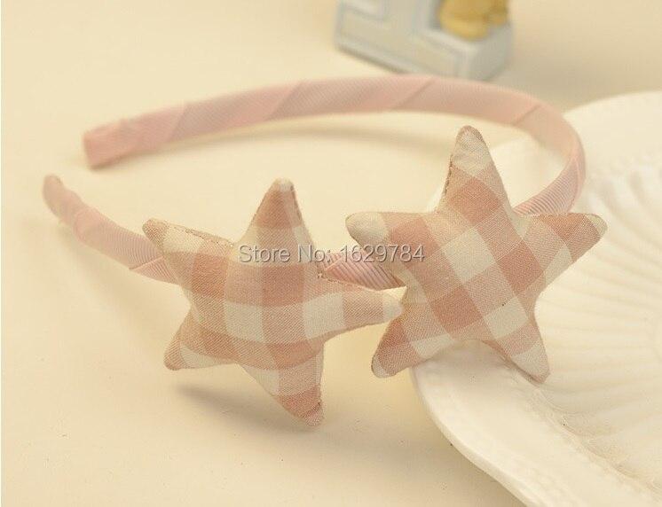 12 шт. модные корейские милые повязки для волос в клетку со звездами, жесткие повязки на голову с набивкой в виде звезды, аксессуары для волос для девушек, аксессуары для принцесс