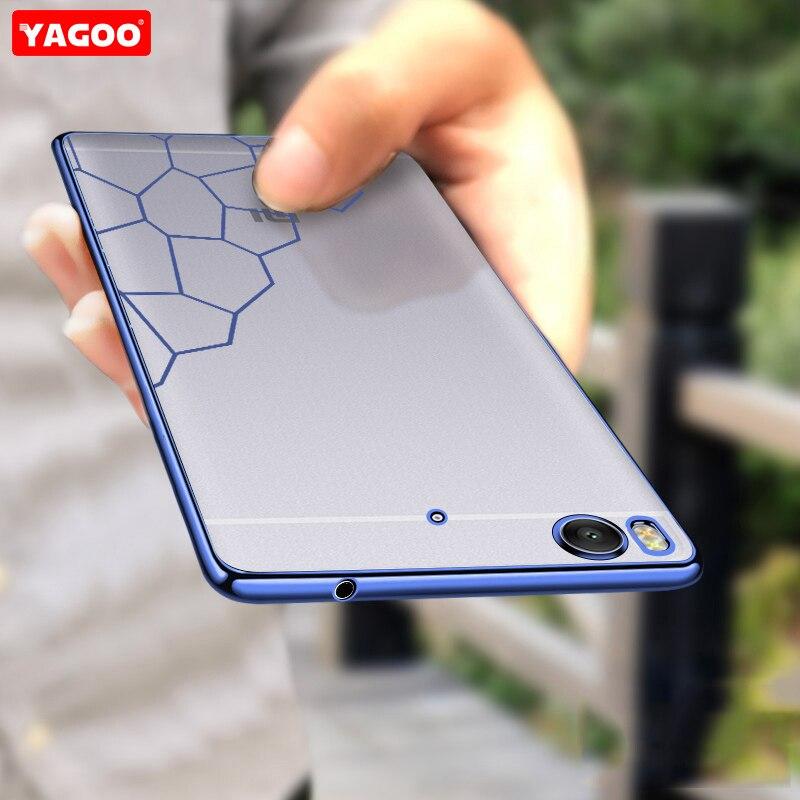 For xiaomi mi5s Case for xiaomi mi 5s cover original Yagoo Super Transparent soft TPU back cover case with free screen protector
