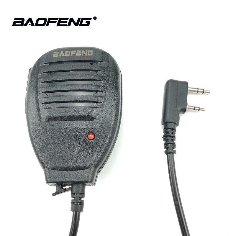 2 stücke Baofeng UV-5R Walkie Talkie Handheld Mikrofon Lautsprecher Für BF-888S UV-5RC UV-5RE Portable Two Way Radio MIC Zubehör