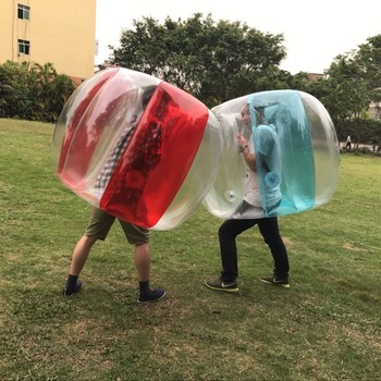 Fun Outdoor Activity PVC Inflatable Bubble Collision Bumper Buffer Ball Training Running Sport Family Game Body Suit Loopy Ball