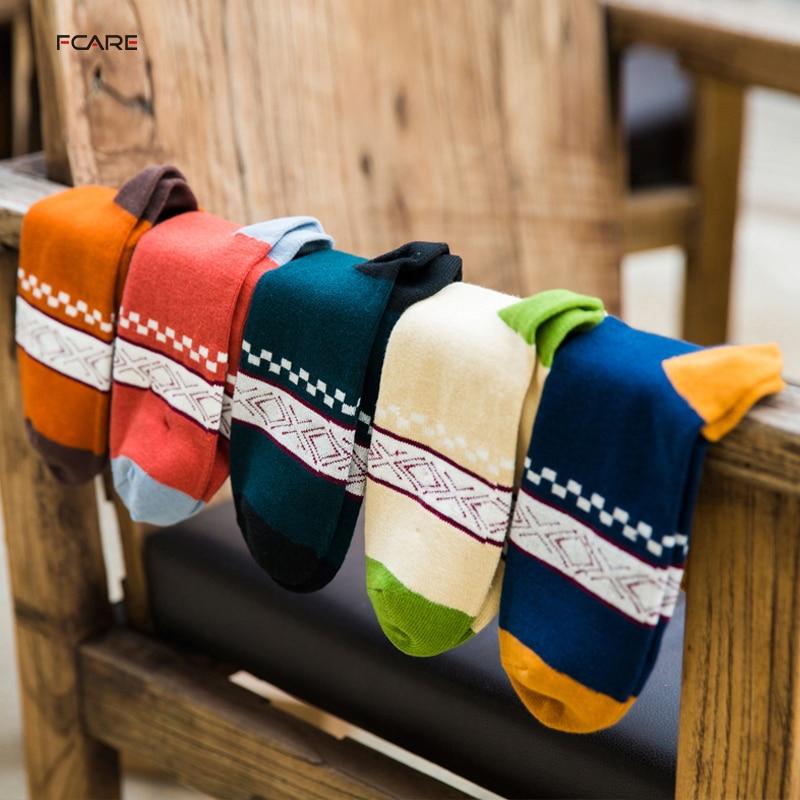 Fcare 10PCS=5 pairs mens Men long socks Creative money autumn and winter men socks