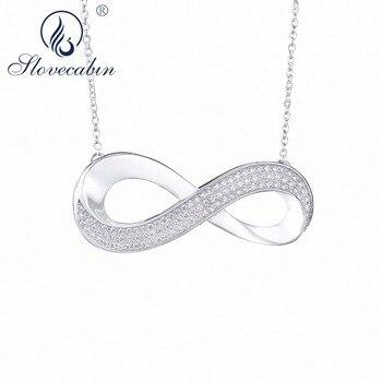 Slovecabin 100% Real Bijoux En Argent 925 Sterling Silver Best Friends Pendant 8 Zircon Pave Necklace Making Women Fine Jewelry дамски часовници розово злато