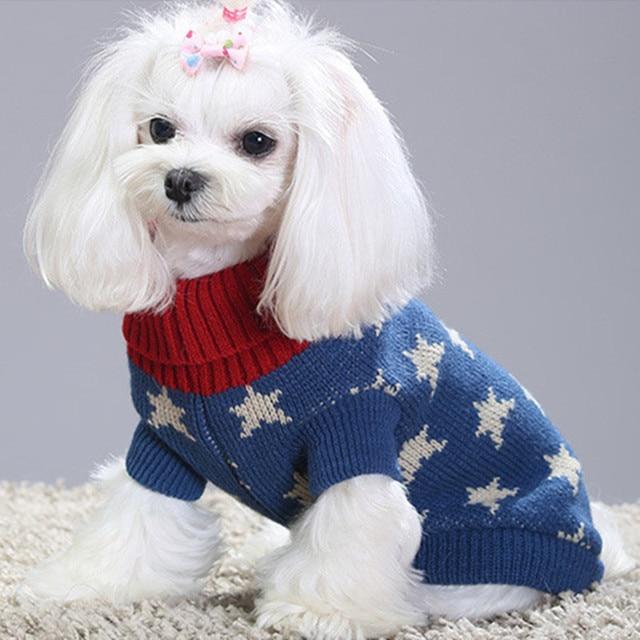 Bajila perro gato knit sweater Kitten Puppy Cuello clásico sudadera ...