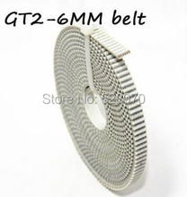 PU with steel core GT2 belt 2GT timing belt 6mm width 2m a pack for 3d printer free shipping 2 meter GT2-6mm open timing belt