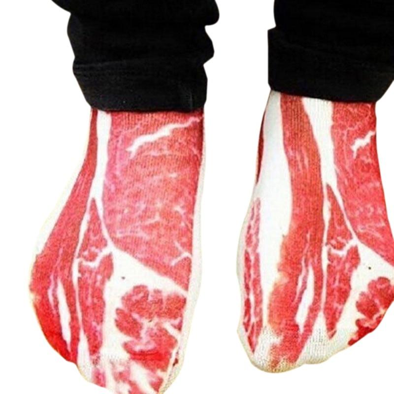 1 Pair 3D Meat Bone Socks Boat Socks Diverse Patterns