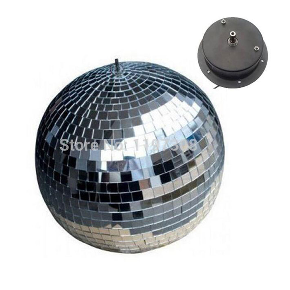 D20cm glass rotating mirror ball 8 disco DJ party stage lighting reflection motor balls  KTV Bars shop holiday decor d35cm 13 8 inches reflective glass ball light led disco crystal ball mirror stage lighting effect christmas holiday wedding