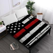 7459e582f5 Festival Presente Folha de Cama Lençol Estrela Listrada Bandeira Americana  Impressão Patchwork Roupa de Cama Dia Da Bandeira Dec.