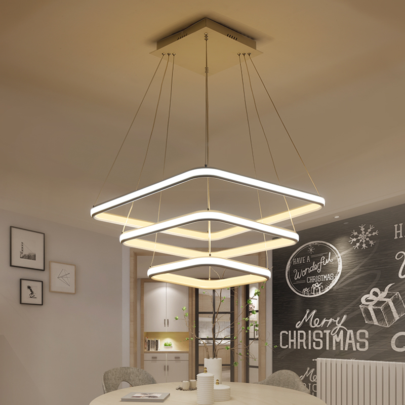 Inside and outside glow Minimalism Modern Led Pendant Lights For Dining Room luminaire Pendant Lamp Fixtures lustre de plafond noosion modern led ceiling lamp for bedroom room black and white color with crystal plafon techo iluminacion lustre de plafond