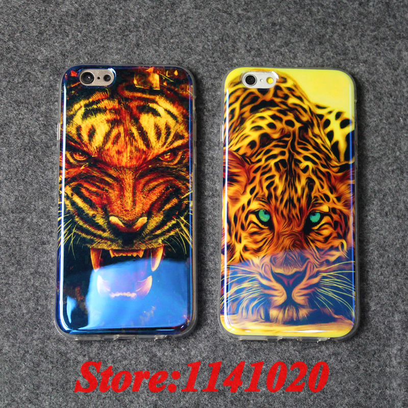 High Quality Cool Leopard <font><b>Tiger</b></font> Lion for Man <font><b>Blu-ray</b></font> Soft Mirror Cover Case Coque Fundas for iPhone 6 6S Plus 5S 5 SE Caso