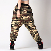 New Arrival Men and Women Camouflage Harem Pants Fashion Hiphop Big Crotch Pants Loose Dancer Trousers