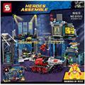 Sy513 Ensamblar Bloques de Construcción Super Heroes Bat Cueva Niños Ladrillos Combinado Juguetes Deformación