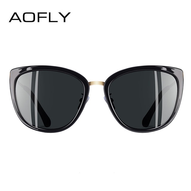 AOFLY BRAND DESIGN New Cat Eye Sunglasses Women Fashion Small Polarized Sunglasses Metal Legs Shades UV400 A105 2