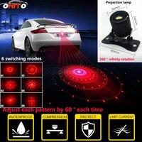 범용 회전 라이트 6 로고 최고의 LED 자동차 후면 프로젝션 안개 램프 장식 조명 라듐 통 충돌 방지
