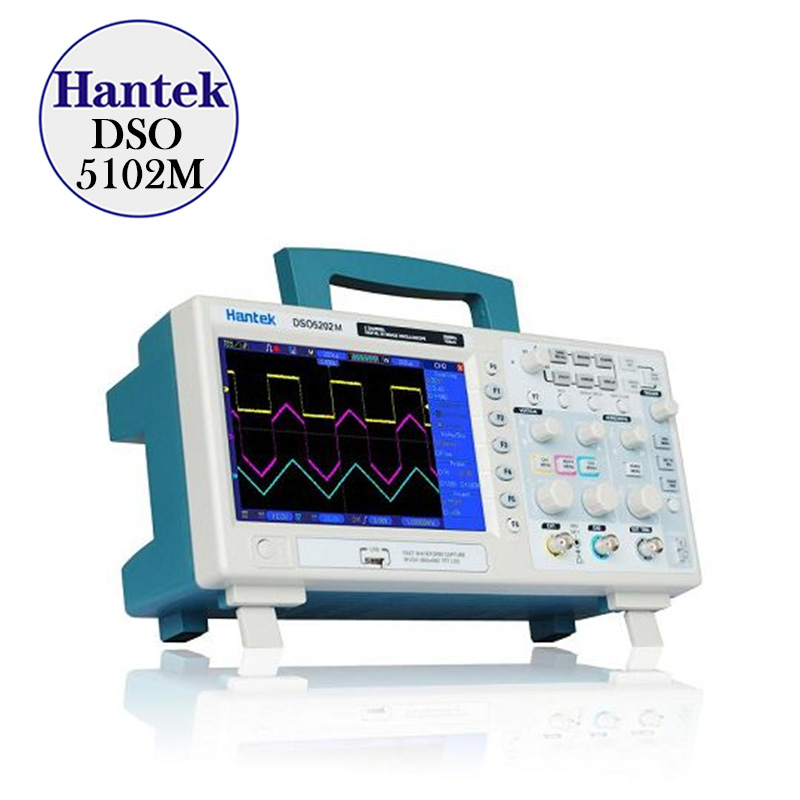 New Hantek DSO5202BM Digital Storage Oscilloscope 2channels 200MHz 1GSa s 7 Color Display 2M Record Length