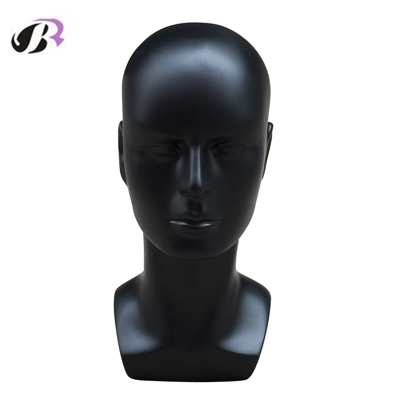Free Shipping High Quality Black Realistic Male Mannequin Manikin Head For Wig/ Hat /Scarf /VR Display Maquiagem Head Model Sale цены онлайн