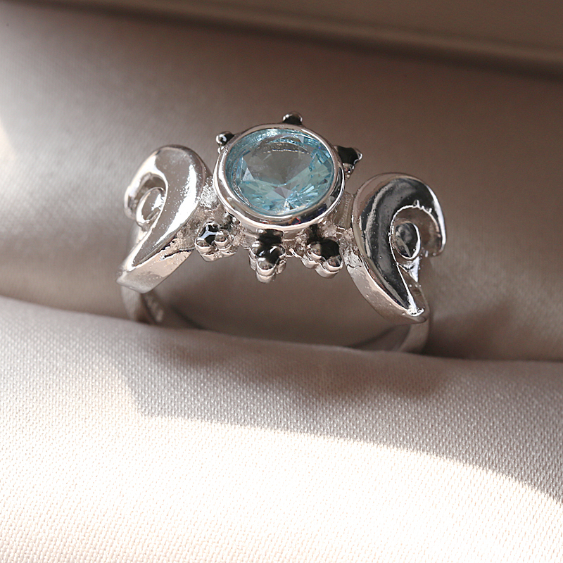 Sailor Moon Magical Anime Ring European American vintage Thai silver  moonstone ring National wind Zircon jewelry sapphire ring - buy at the  price of $2.38 in aliexpress.com | imall.com